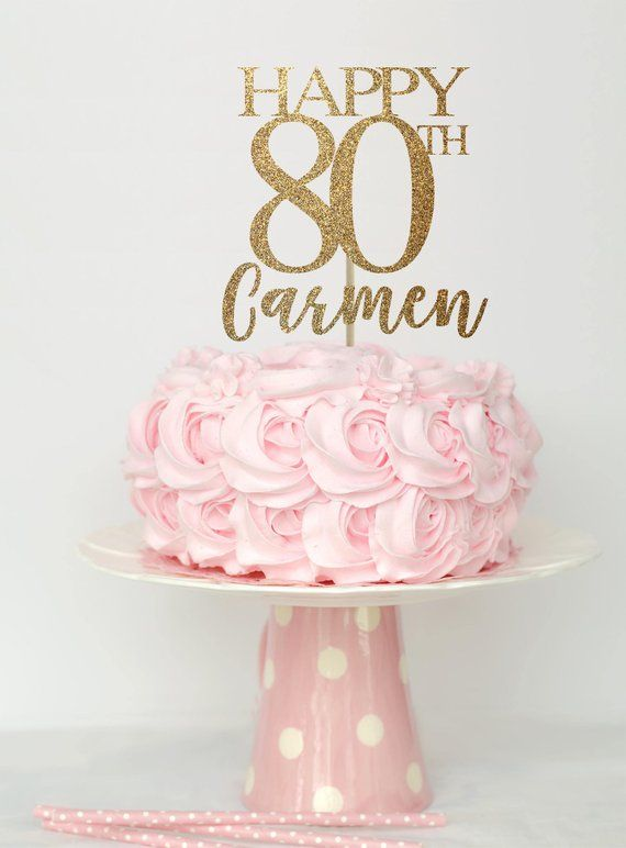 80 And Fabulous Cake Topper Birthday Decorations 80th Decor