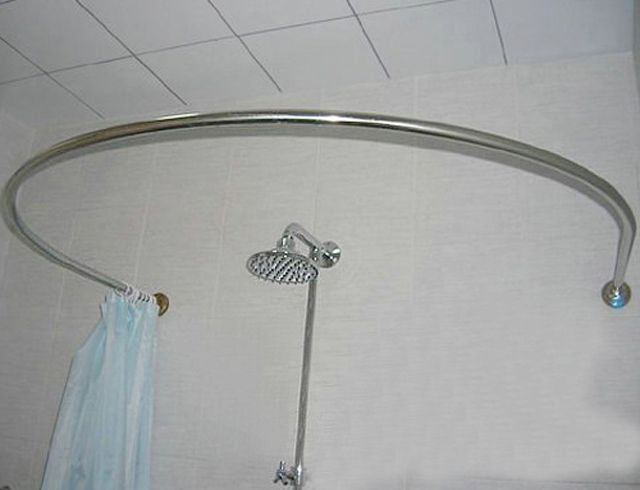 Stainless Steel Curved Shower Rod Circular U Shaped Shower