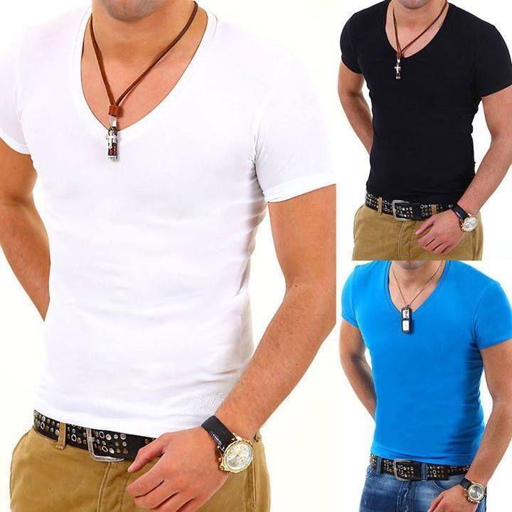 Deep V-Neck Shirt in 5 Farben   gibt es hier bei Amazon >>> http://amzn.to/1spZJH1 ***  gibt es hier bei ebay >>> http://ebay.to/1qCCnHI