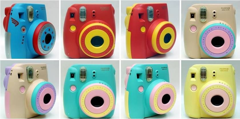 Fujifilm Instax Mini 8 Instant Polaroid Camera Customized Color