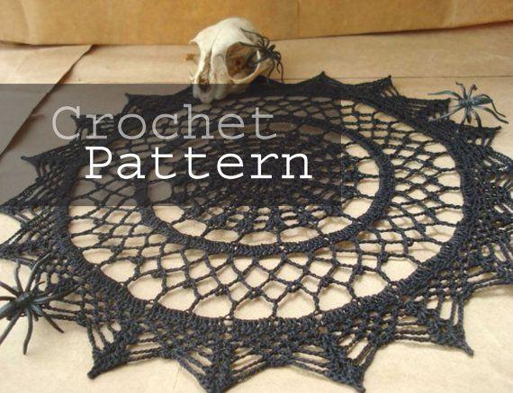 Spider Web Doily Pdf Crochet Pattern Halloween Pinterest