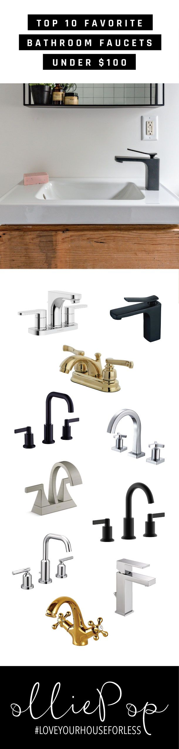 Top 10 Favorite Bathroom Faucets Under 100 Products We Love