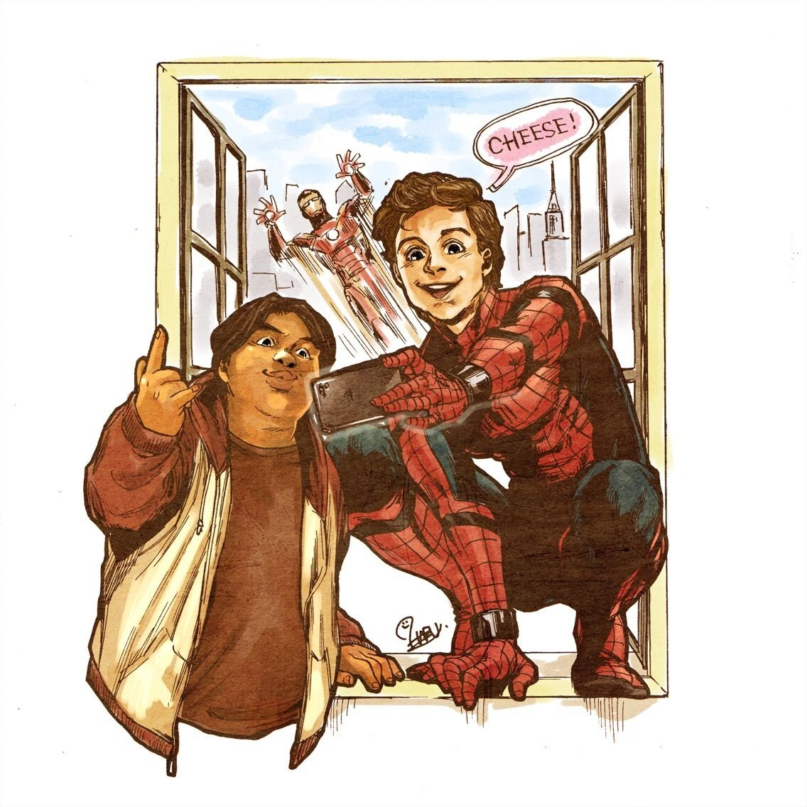 Spiderman: Homecoming    Peter Parker,Ned Leeds,Tony Stark (Iron Man