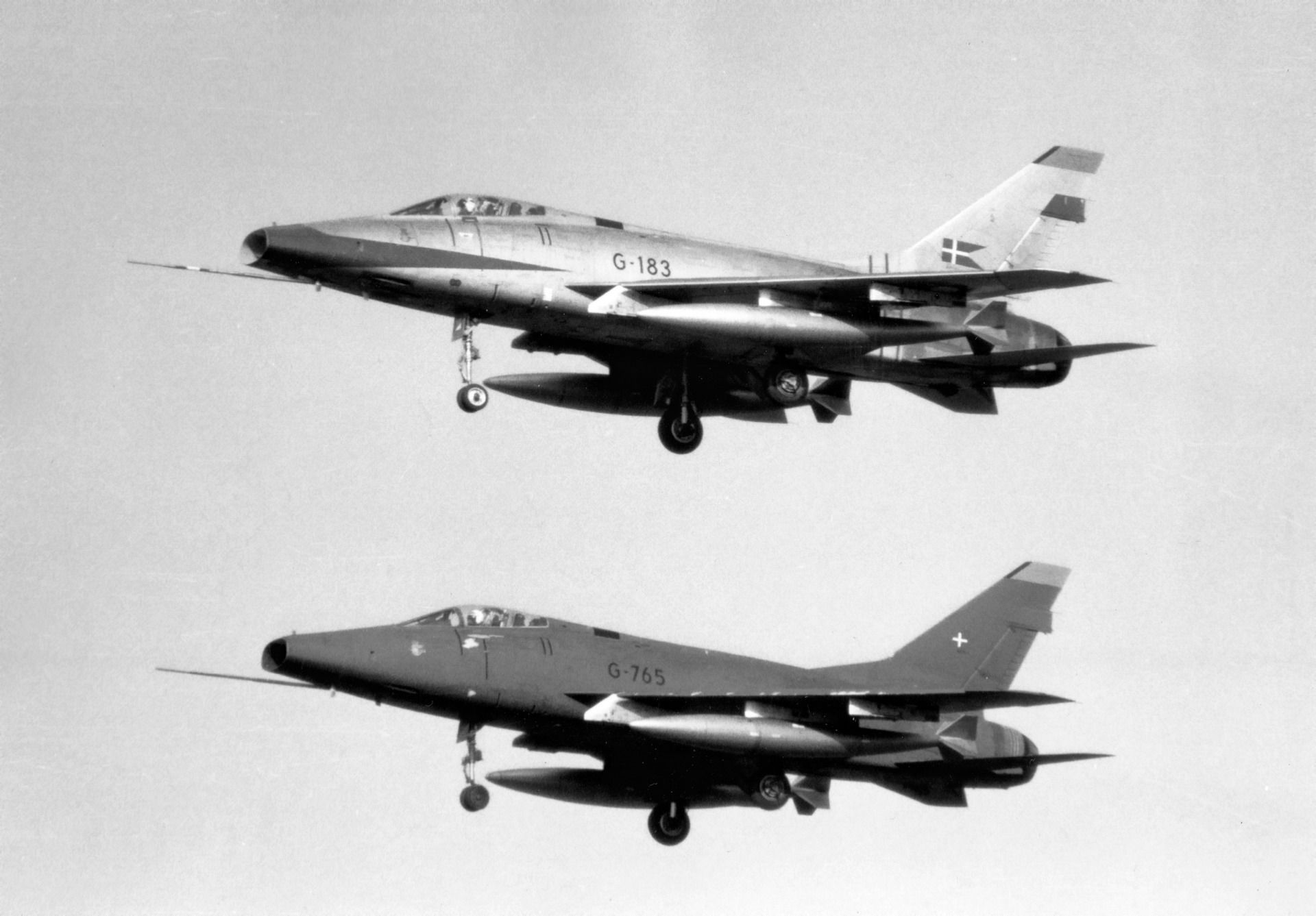 North American F-100D Super Sabres - Flyvevåbnet (Royal Dutch Air Force), Denmark