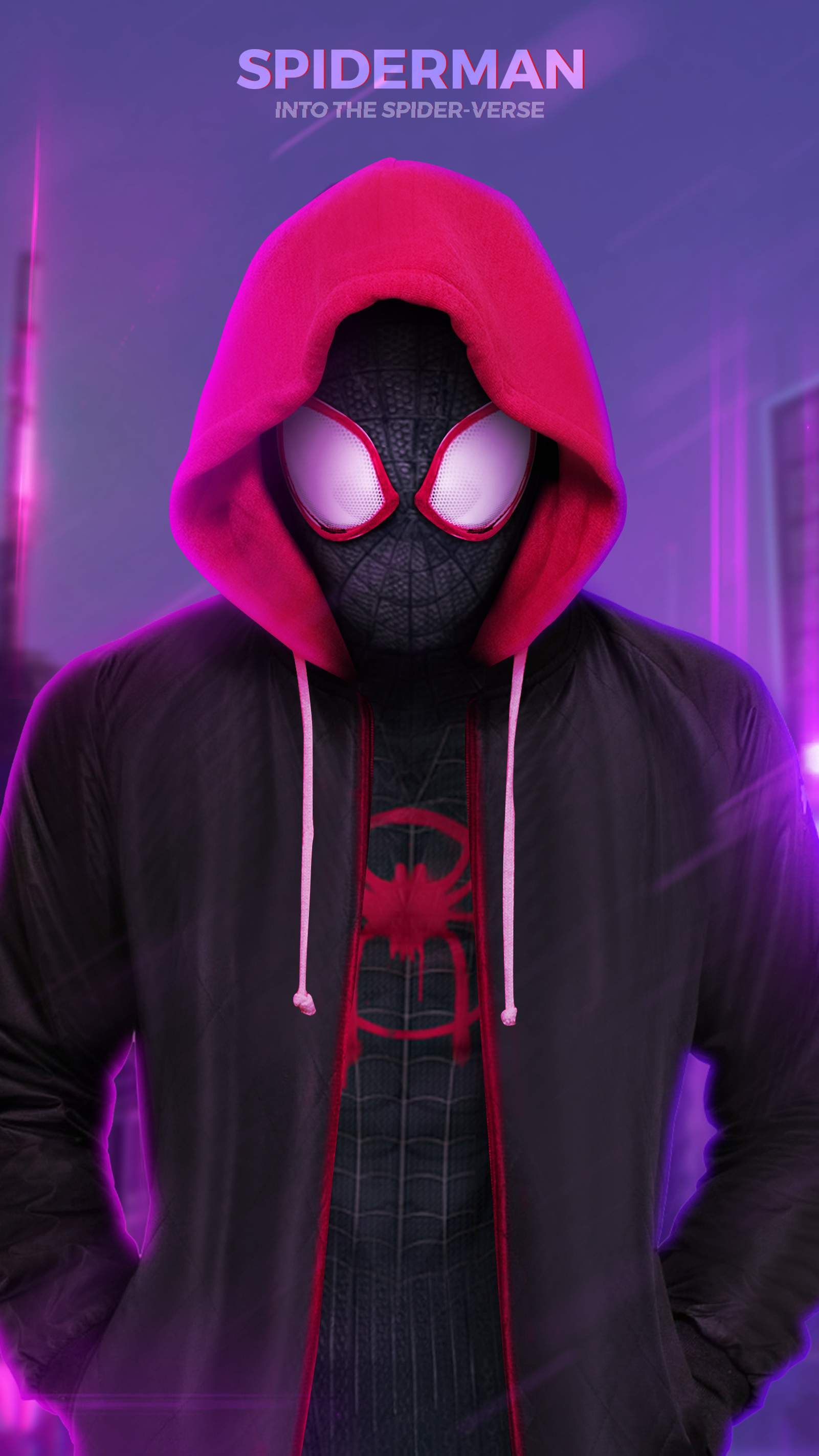 Spiderman Into The Spider Verse Iphone Wallpaper Spiderman Black Spiderman Spiderman Poster