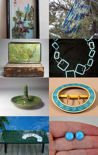 Shades of the Sea  by Angie Bisset on Etsy--Pinned with TreasuryPin.com