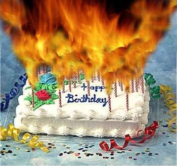 Birthday Cake In Flames Because Theres So Many Candles JM