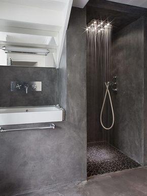 bagno cemento a vista   Loft   Pinterest   Zement, Innenarchitektur ...