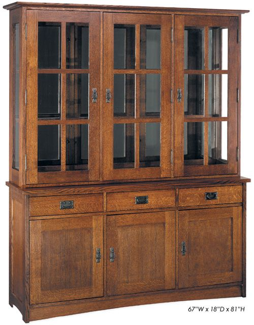 Charming 3 Door China Cabinets | ... Furniture Oak Furniture: Nobility Mission 3 Bay