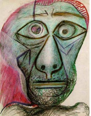 """Picasso, """"autoportrait face à la mort"""", 1972 (91 ans)"""