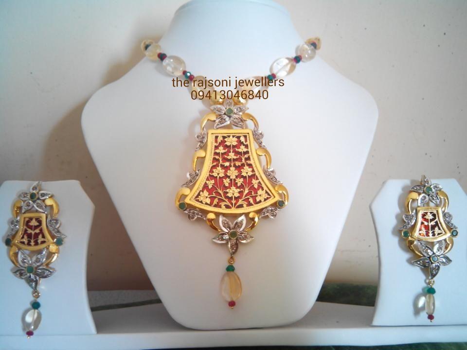 Thewa Victorian jewellery | The Rajsoni Jewellers Pratapgarh .Raj ...