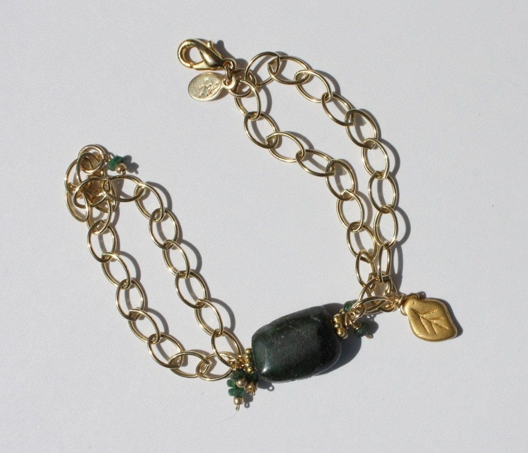 Emerald nugget necklace u bracelet sale handcrafted gemstone
