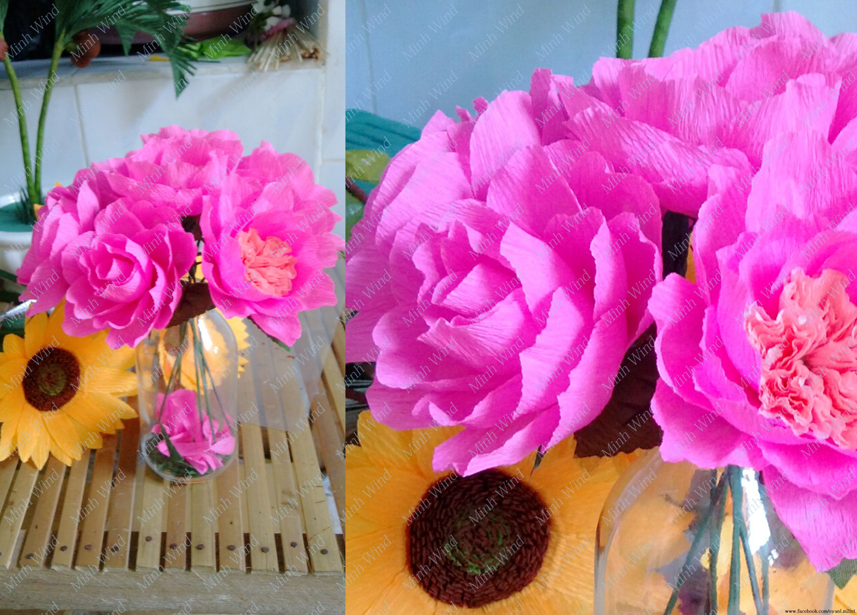 How To Make Miniature Rose Paper Flower Tutorial Hng Dn Lm