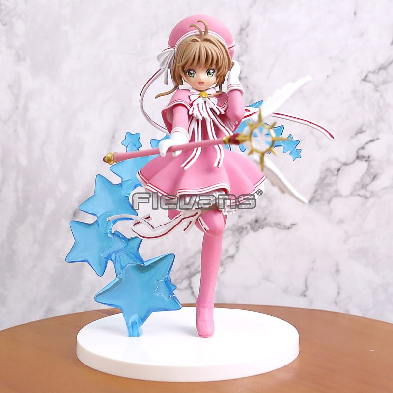 Costumes & Accessories Anime Card Captor Cardcaptor Sakura Kinomotosakura Action Figure Toy Doll For Birthday Christmas Gifts