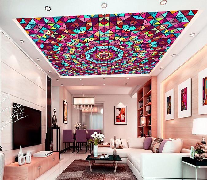 Stylish Lattice Patterns   AJ Wallpaper   3D Ceiling Murals ...