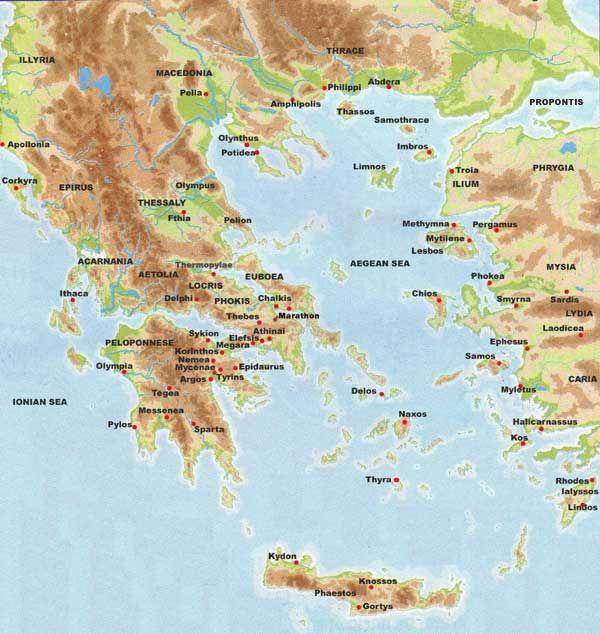 Ancient Greece Maps Videos Ancient Greece Ancient Greek City