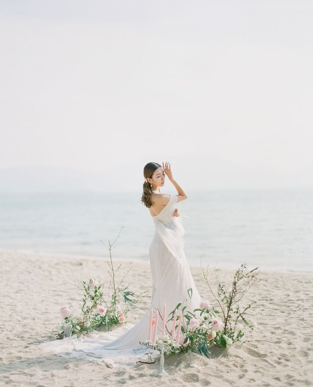 Romantic and simple beach wedding setup. in 2020 Simple