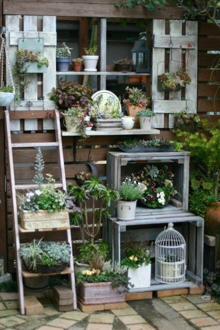 1001 ideas para hacer muebles con palets fciles Garden deco