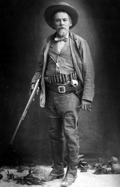Old West Gunfighter and Sheriff Texas John Slaughter Posing