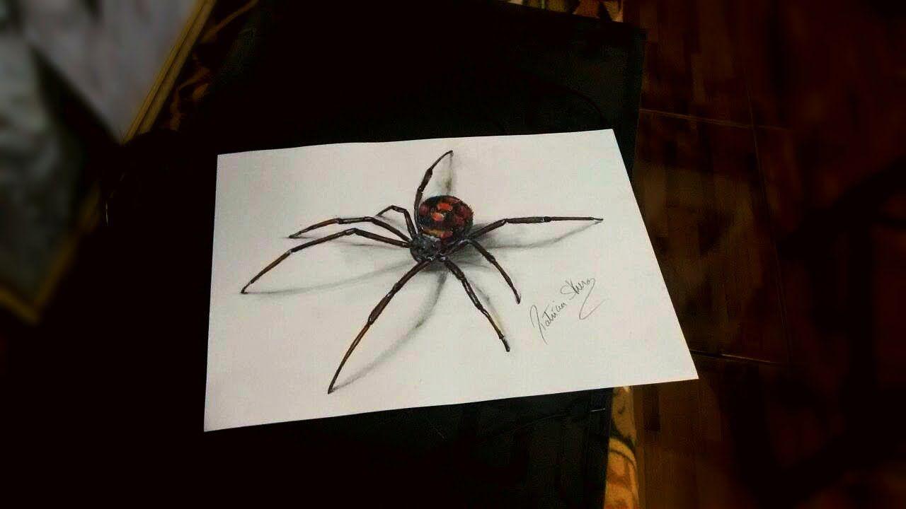 Desenho 3d Aranha Passo A Passo Speed Art Patricia Skura