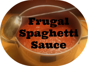 Frugal & tasty homemade spaghetti sauce