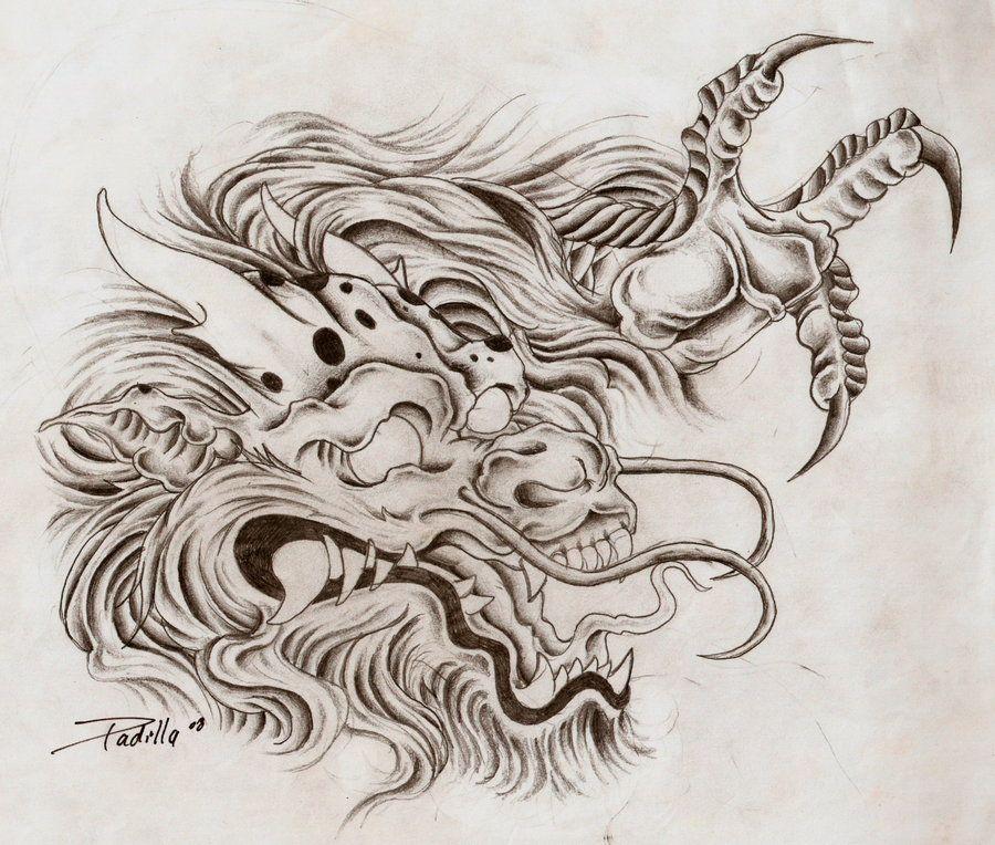 Dragon Head By Eltri On Deviantart Dragon Head Tattoo Dragon Tattoo Drawing Body Tattoo Design