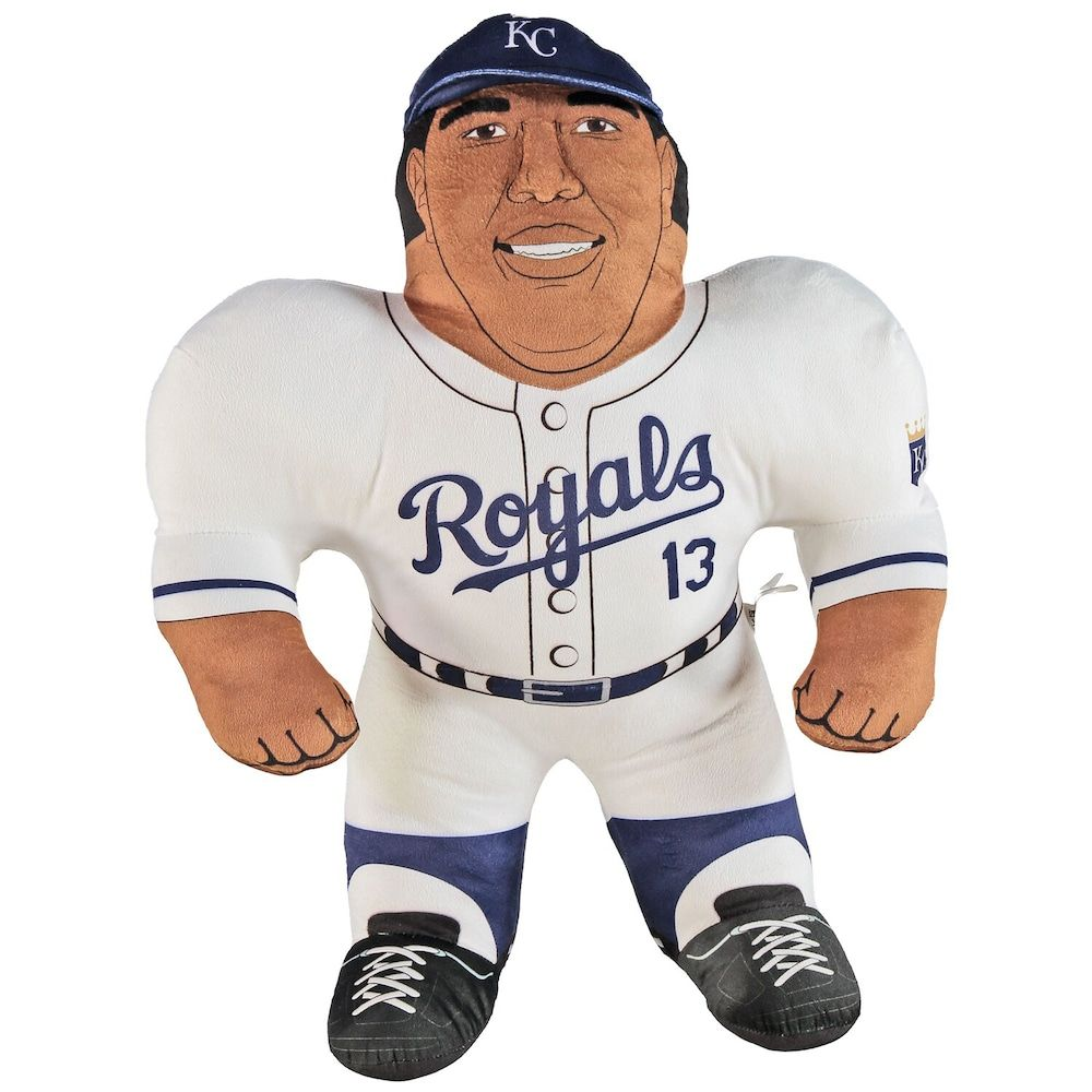 Your youngster will love honoring his favorite Kansas City Royals player with this Salvador Perez Player Plush Studd.Your youngster will love honoring his favorite Kansas City Royals player with this Salvador Perez Player Plush Studd.Material: 100% Polyester FiberRecommended for ages 3 years & overMeasures approx. 18 x 24 x 6Printed graphicsDouble-sided designSurface WashableOfficially licensedImportedBrand: Forever Collectibles Size: One Size. Color: Multicolor. Gender: unisex. Age Group: kids.