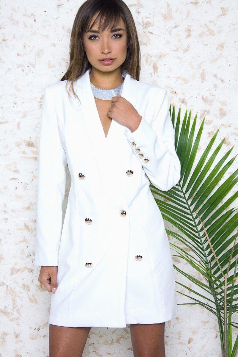 Hollywood White Tuxedo Dress White Tuxedo Dresses Tuxedo Dress [ 1200 x 800 Pixel ]