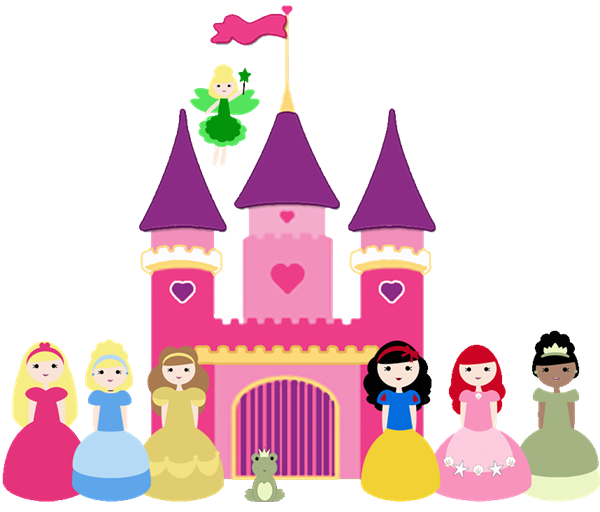 disney princess castle clip art clipart free clipart rh pinterest com Disney Princess Silhouette Template Disney Princess Birthday Printables