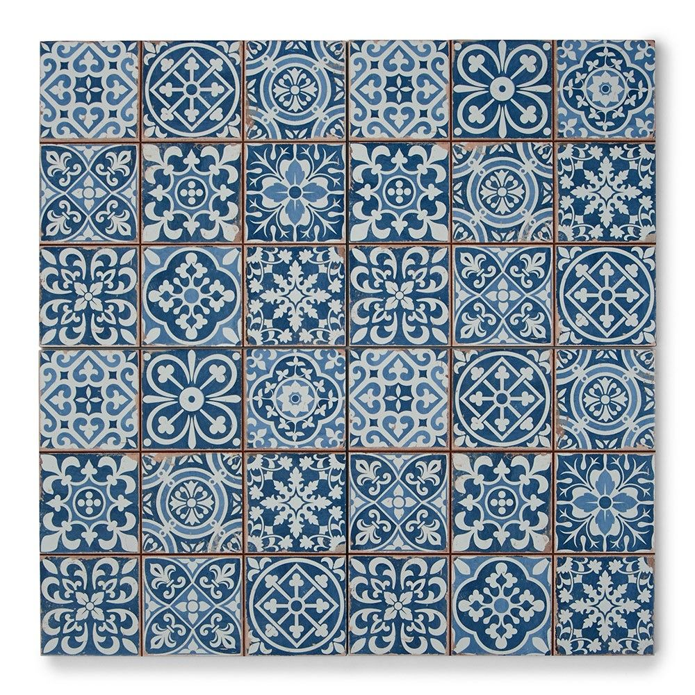 Tapestry Blue | Patterned Tiles | Porcelain Superstore | Kitchen ...