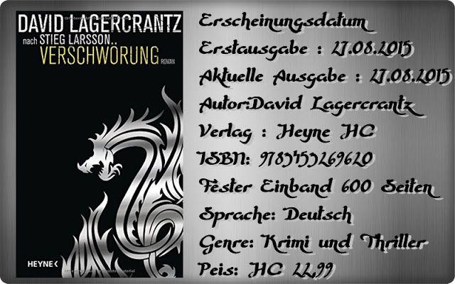 """Leserattes Bücherwelt: [Karl`s Rezension] """"Verschwörung"""" David Lagercrant..."""