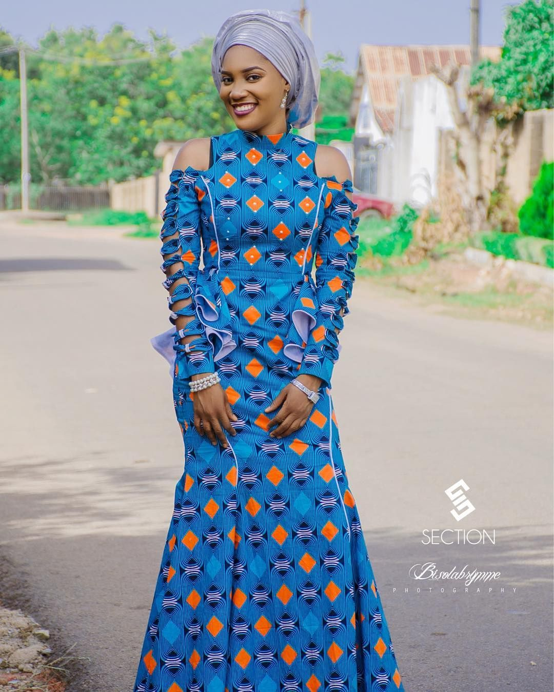 Lovely Fitted Long Gown Ankara Styles