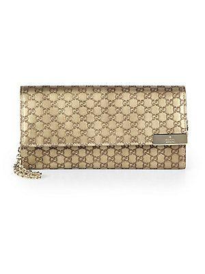 401d8ec6529f3b Gucci Dice Metallic Microguccissima Leather Chain Wallet | My style ...