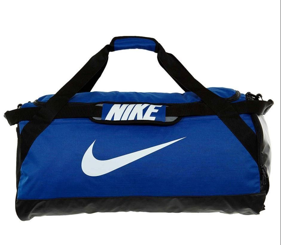 05ee138ea1af Nike Sportswear Brasilia Royal Blue Black Medium Duffel Bag Backpack  BA5079-681  Nike