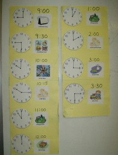 Free Printable Preschool Schedule Cards  EducationClassroom
