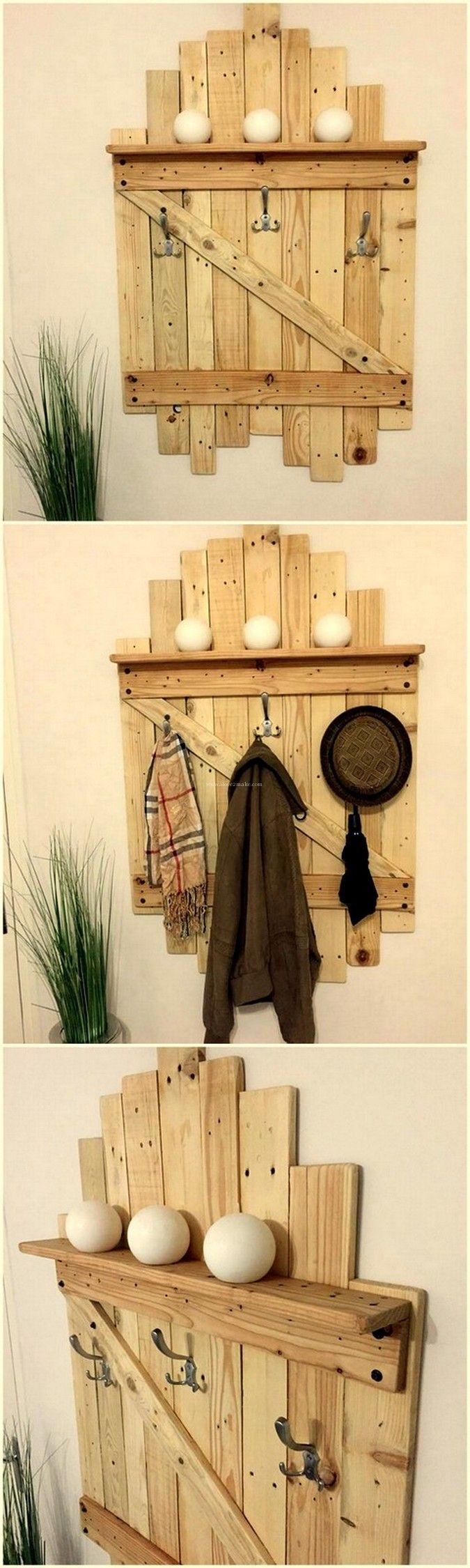 amazing pallet wood wall shelf | Using Pallets For Woodworking ...