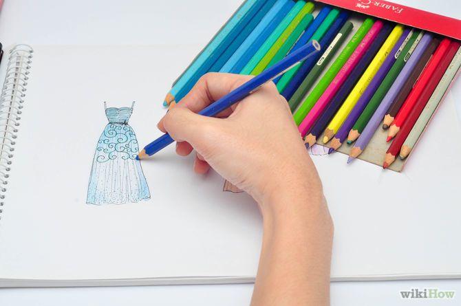 Aprende a hacer un cuaderno de diseño de modas vía es.wikihow.com