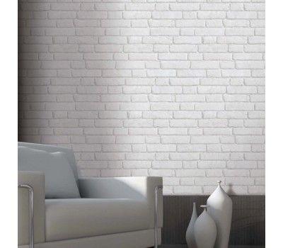 Papier peint briques anciennes blanches Koziel Designer  Christophe