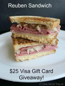 Reuben Sandwich Recipe AND $25 Visa Gift Card Giveaway! #ad