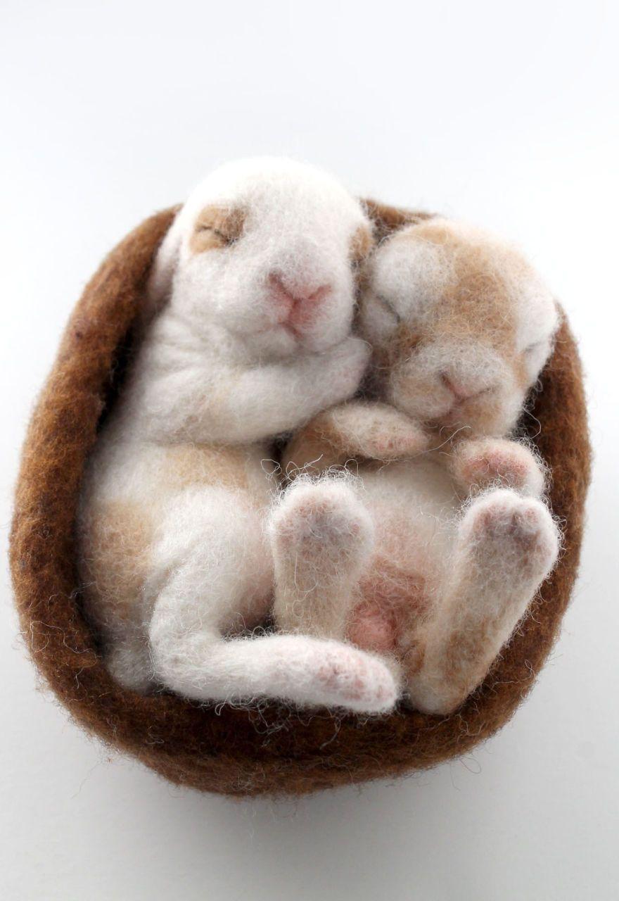 I Needle Felt Wool Sculptures Of Wildlife Animals #felting