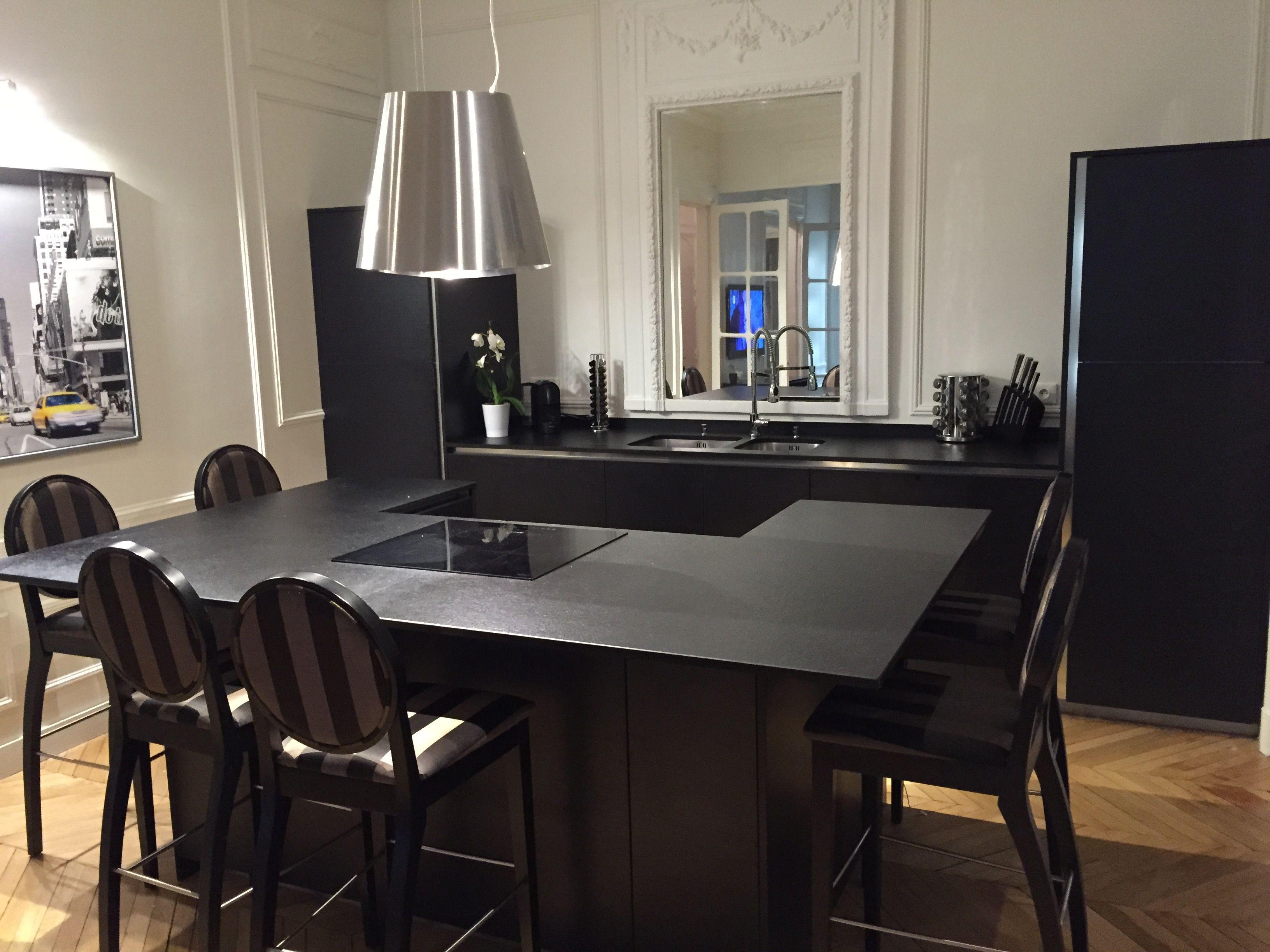 Cuisine Noire Cuisine Haut De Gamme Meuble Design Mobilier De Salon