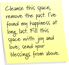 Post-It Note Tuesday: Cleanse a Space | Mom's a Witch