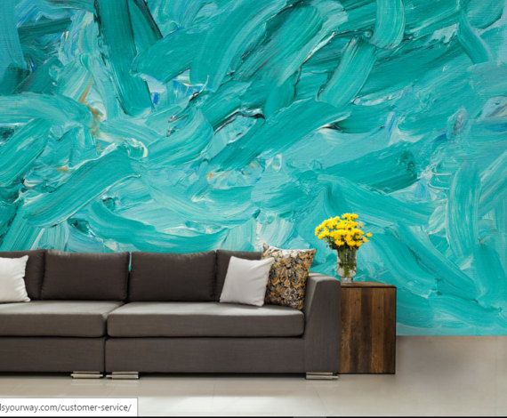 Hey I Found This Really Awesome Etsy Listing At Https Www Etsy Com Uk Listing 512113347 3d Abstract Mural Abstract Wall Mur Wall Murals Teal Wallpaper Mural
