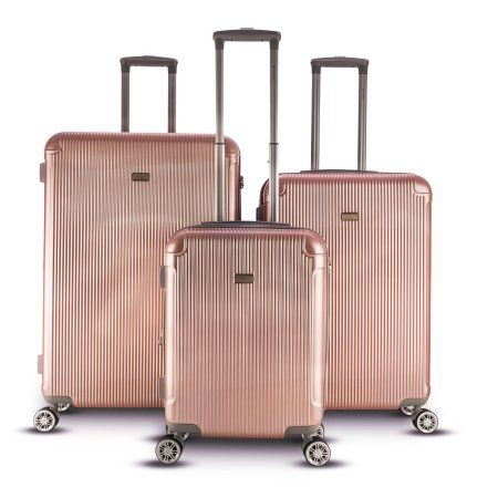 0a2e8ee807c4 Gabbiano Genova Collection 3 Piece Hardside Spinner Luggage Set ...