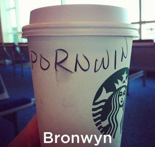 Hilarious Starbucks Name Fails 21 Pics Starbucks Starbucks Cups Names