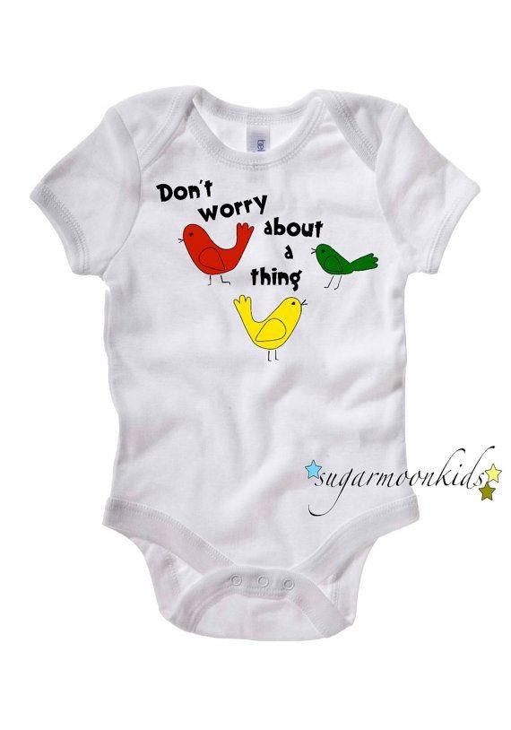 2ea87436c366 BOB MARLEY 3 Little Birds Baby Onesie 1218 months by sugarmoonkids, $17.00