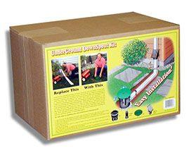 Underground Downspout Extension Kit Concrete Garden