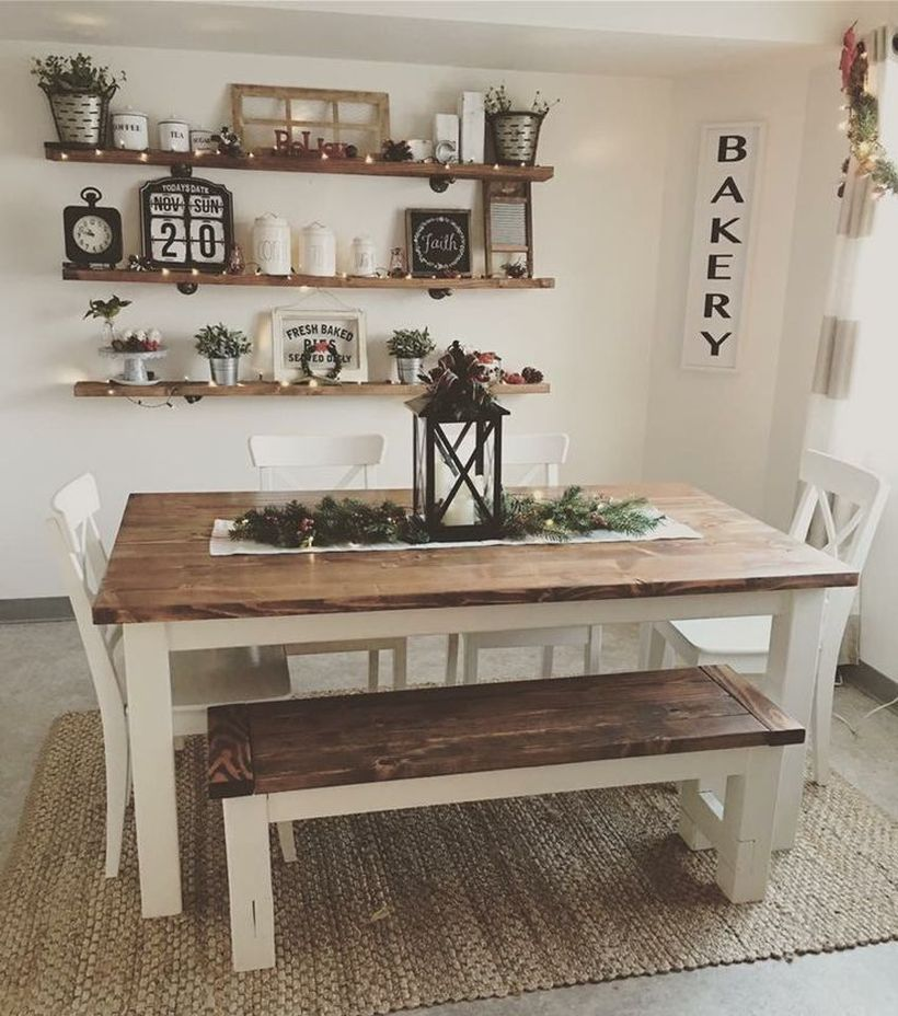 49 Impressive Farmhouse Dining Room Decor for you to apply in your home - Somedecor.com #diningroom