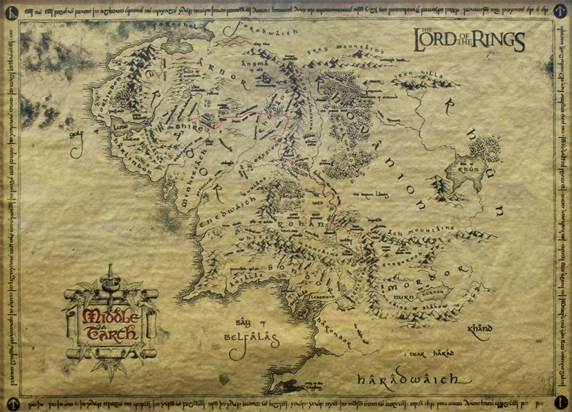Lord of the rings Map LOTR