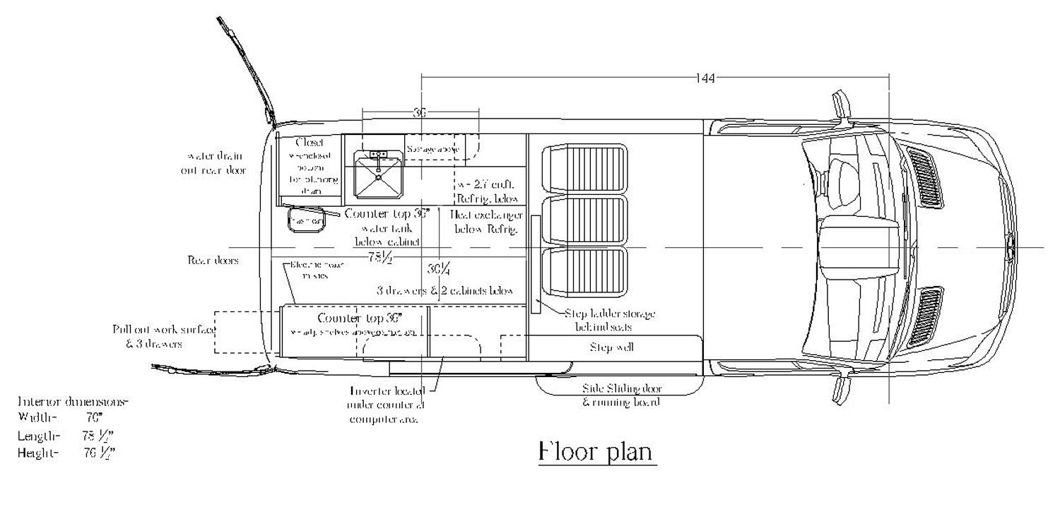 Mercedes Sprinter Floor Plan